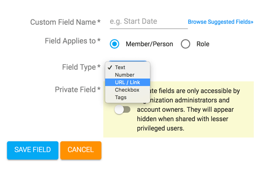 feature custom fields organizational chart