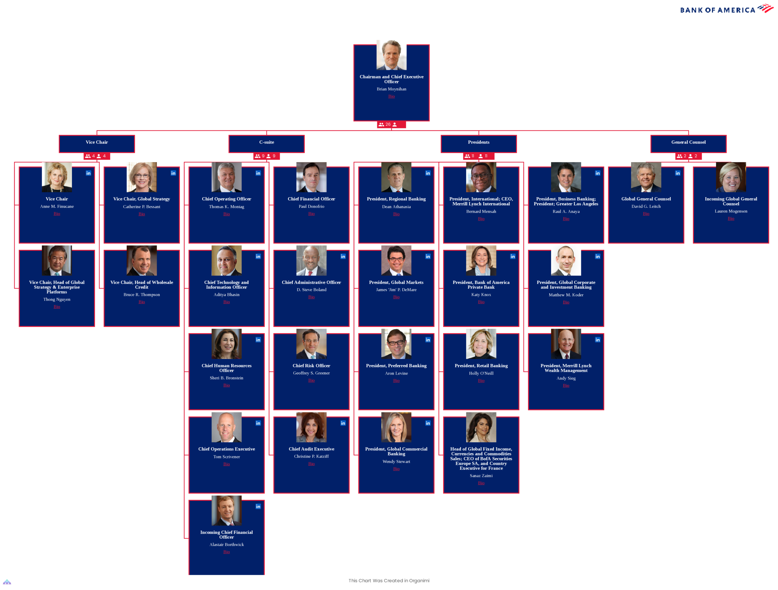 Bank of America Organizational Structure